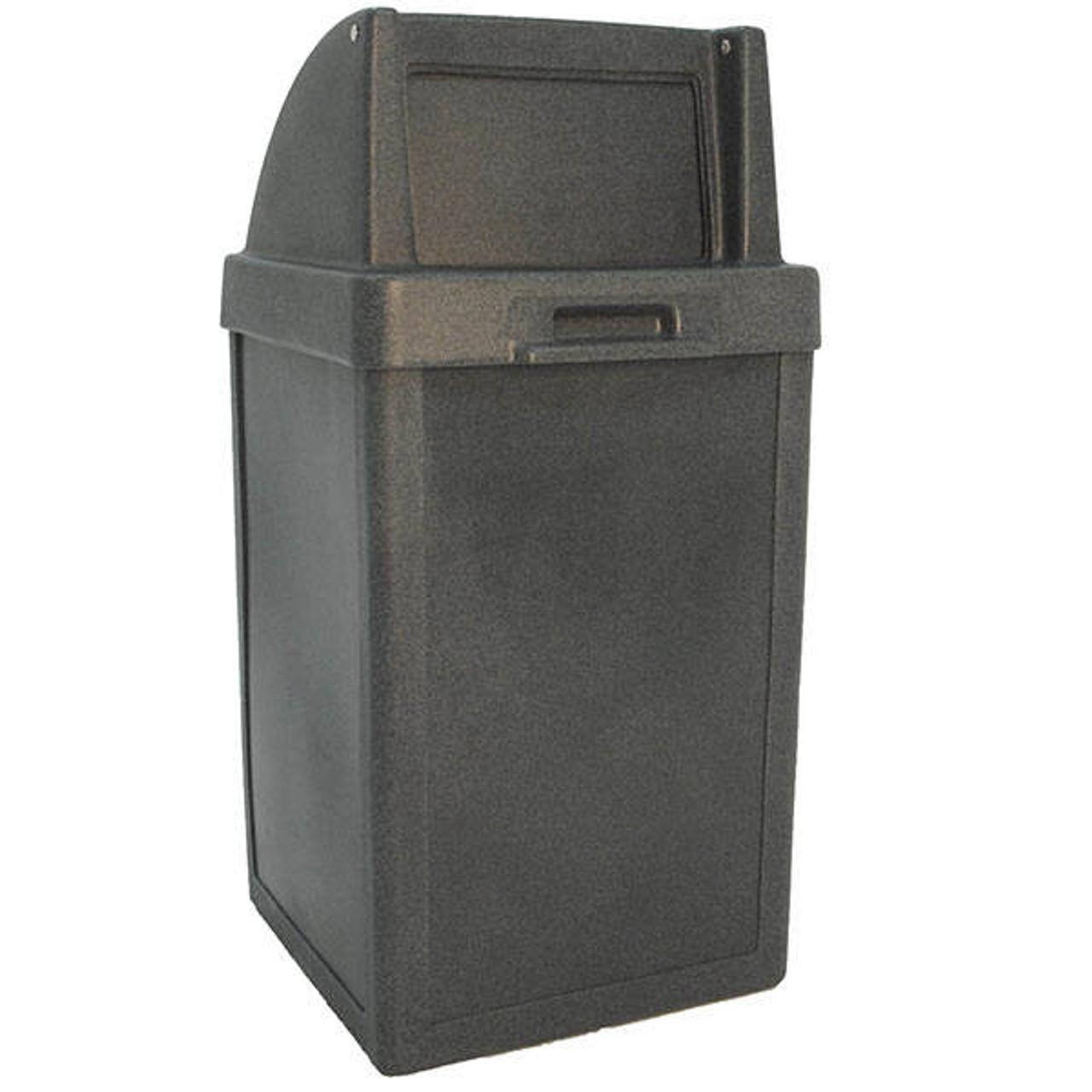 24 Gallon Heavy Duty Plastic Push Door Indoor Outdoor Trash Can TF1014