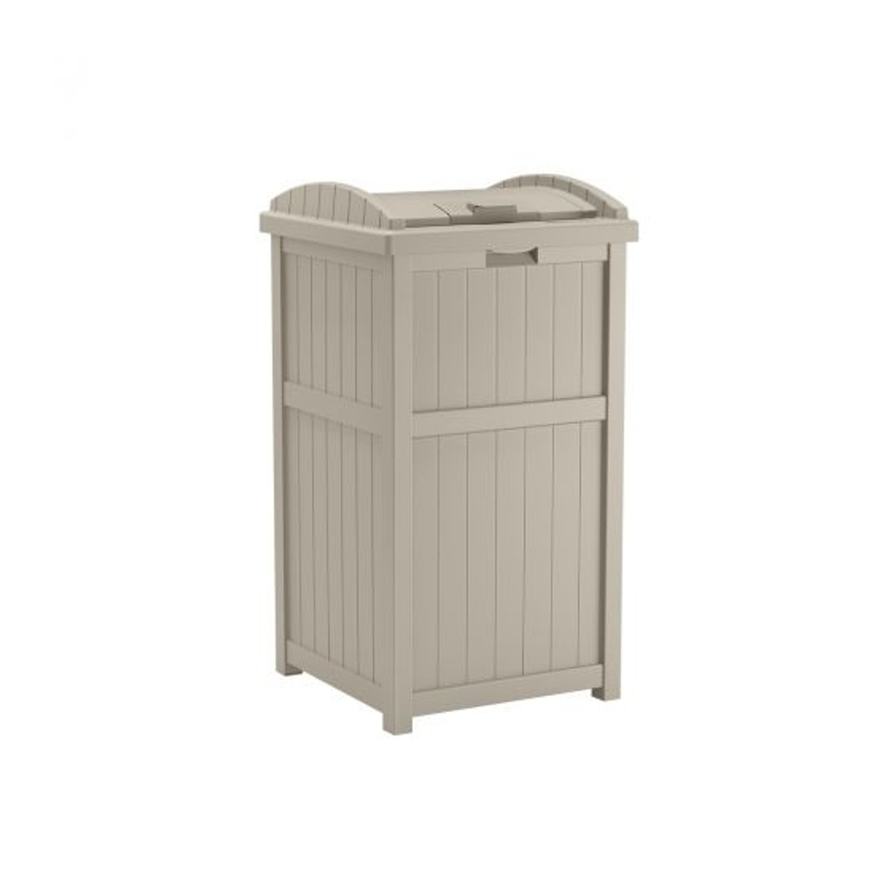 Outdoor Trash Receptacle Light Taupe