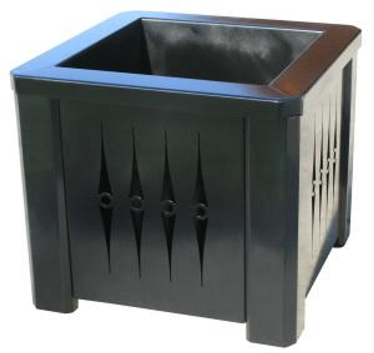 16 Inch Square Steel Metal Planter with Liner