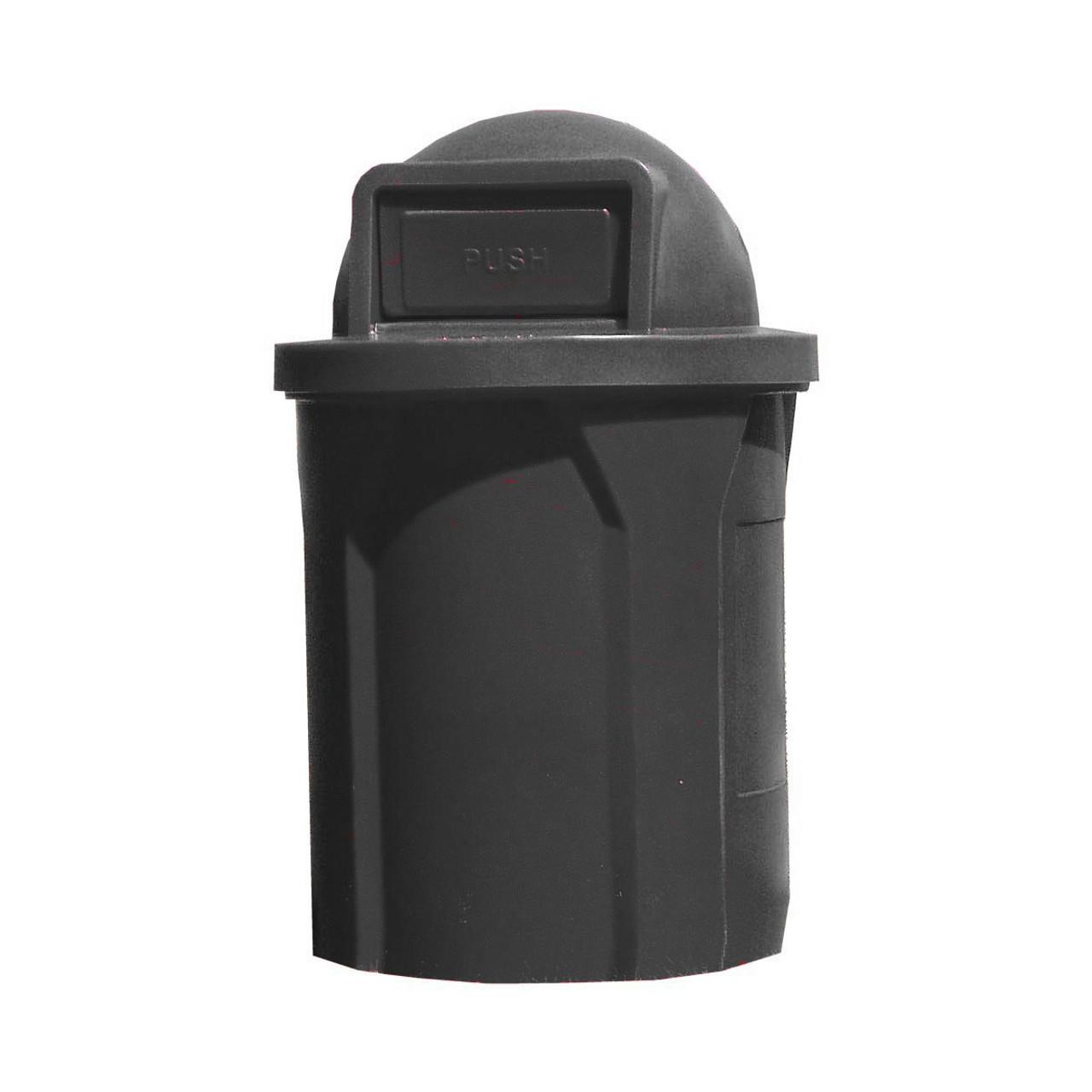 42 Gallon Kolor Can Indoor Outdoor Trash Receptacle S7101A Push Door BLACK
