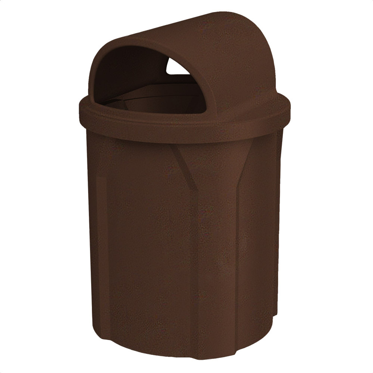 42 Gallon 2 Way Open Dome Top Trash Can S7103A-00 BROWN GRANITE