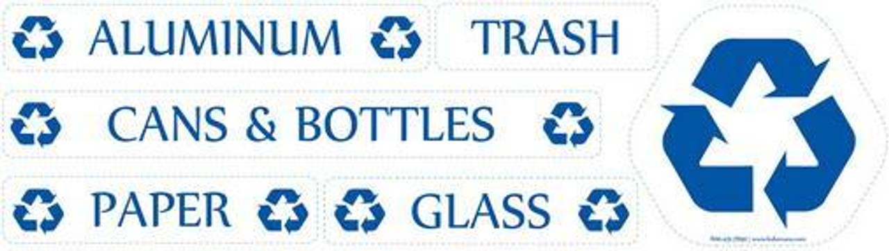 Includes 2 Sets of Recycling Decals