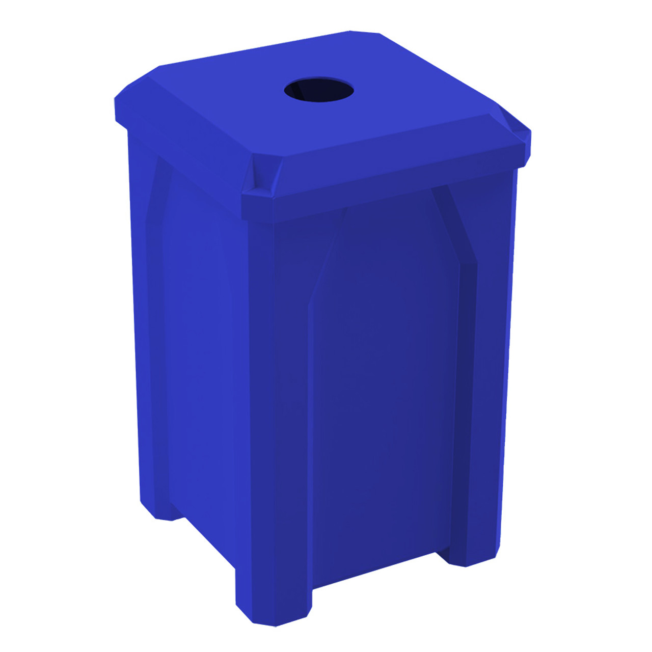 32 Gallon Kolor Can Indoor Outdoor Square Recycle Bin S7802A BLUE