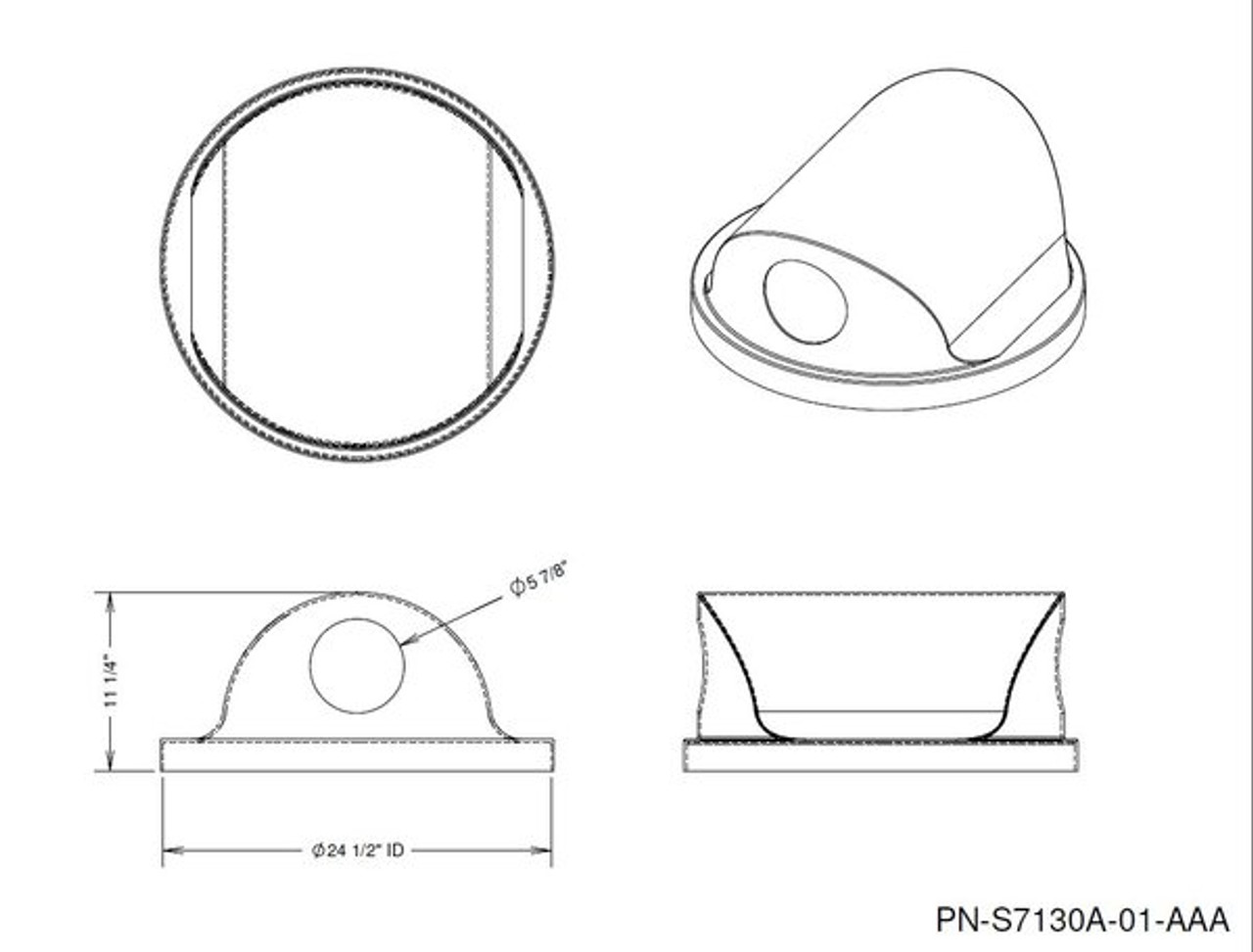 2 Way Recycle Opening Lid Drawing