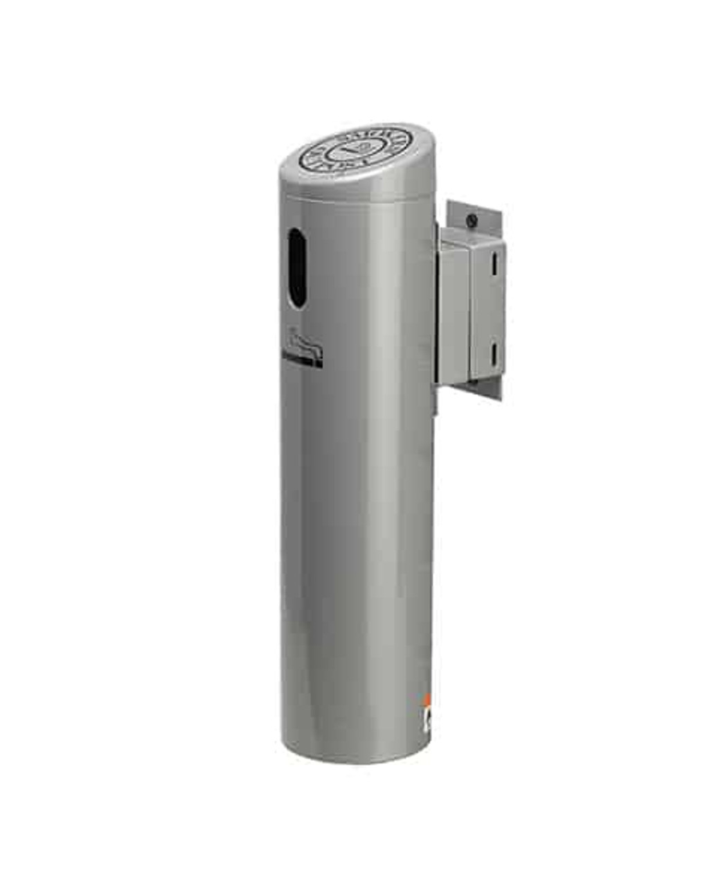 Lockable Smokers Outpost Swivel Wall Mount Outdoor Ashtray Silver