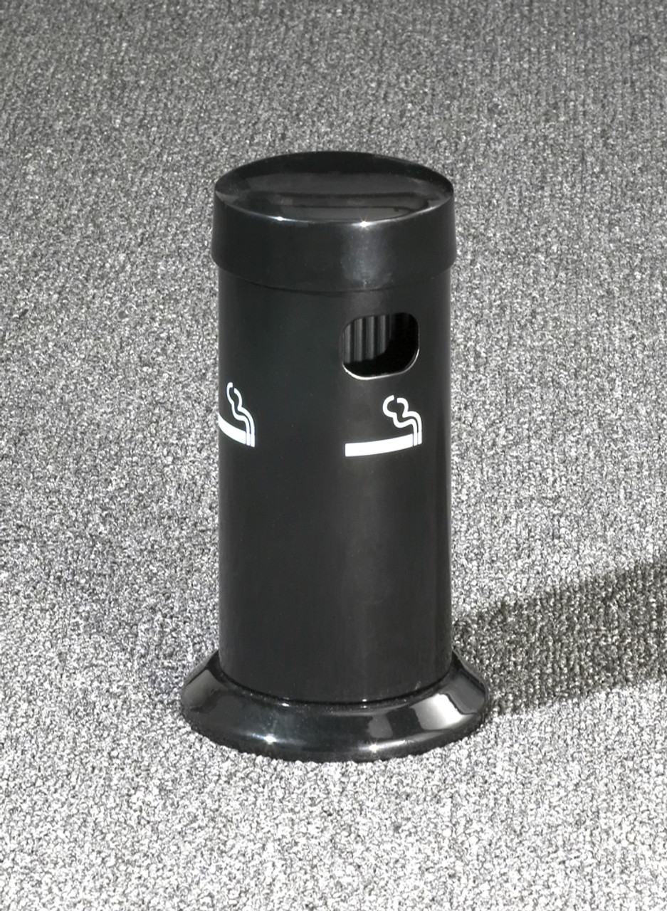 4405 Table Top Metal Deluxe Smokers Cigarette Receptacle Ashtray Satin Black