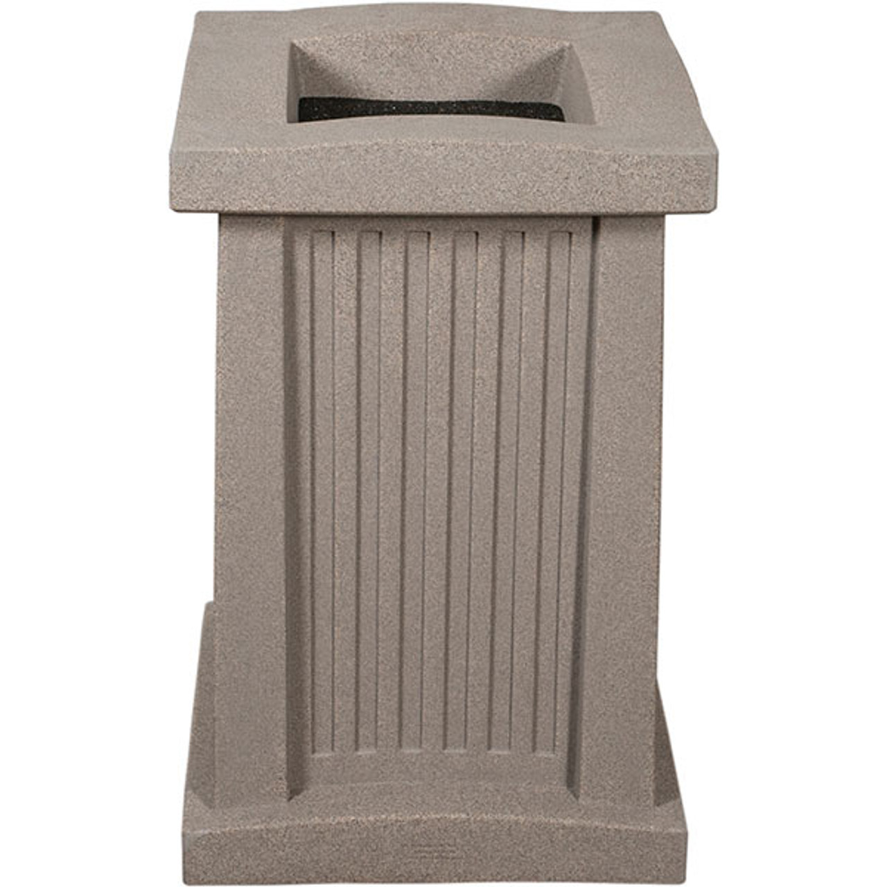 Outdoor Square Plastic Ashtray with Sand Smokers Urn WS2015