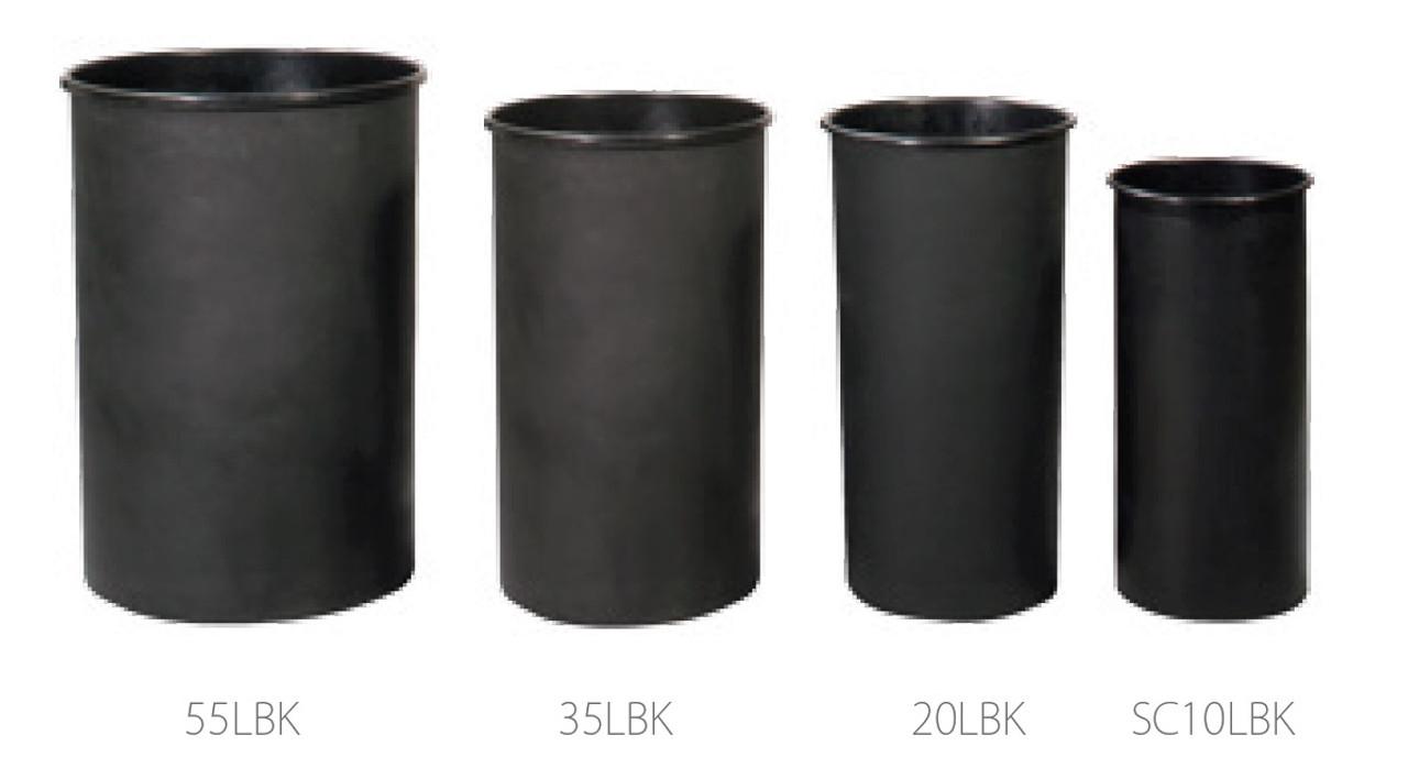 10 - 55 Gallon Witt Round Rigid Plastic Liner Black LBK (4 Sizes)