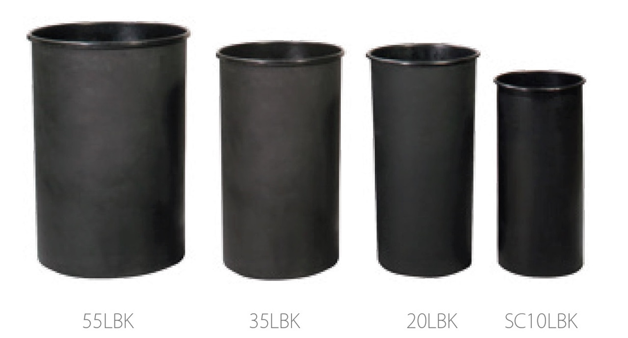10 - 55 Gallon Witt Round Rigid Plastic Liner Black LBK (4 Sizes)