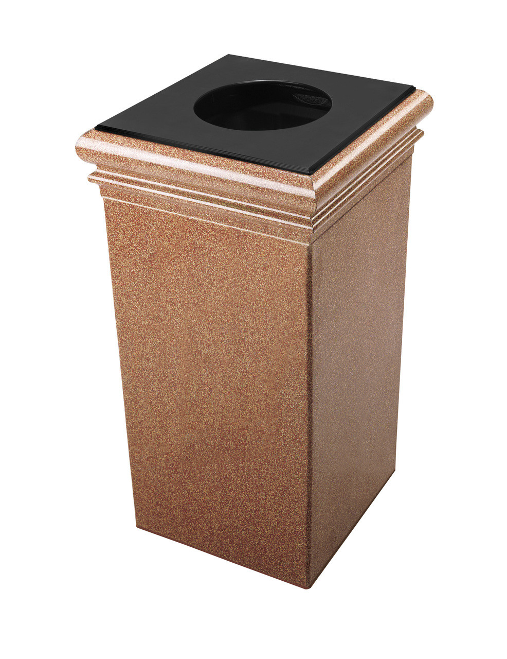 30 Gallon StoneTec Concrete Fiberglass Decorative Trash Can Sedona