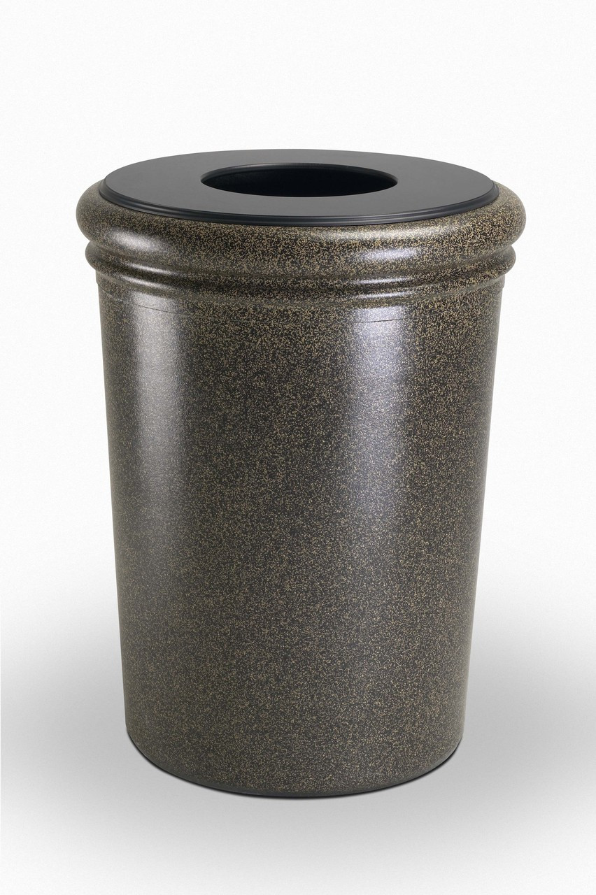 50 Gallon StoneTec Concrete Fiberglass Decorative Trash Can Aspen