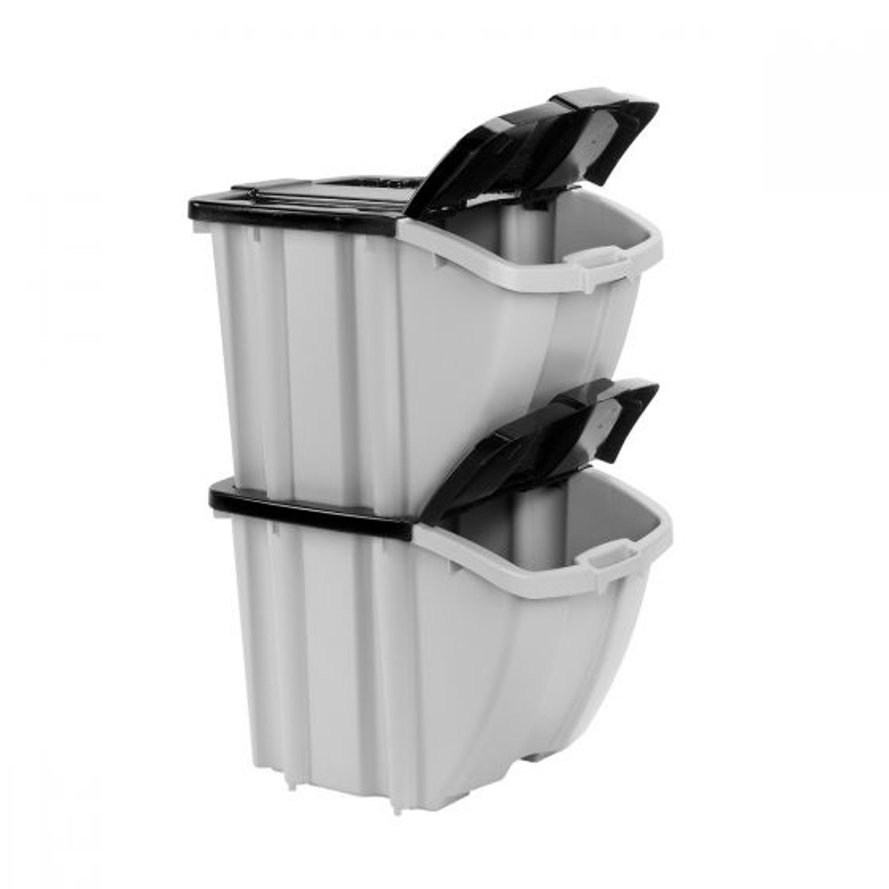 Suncast 18 Gallon 72 Quart Stacking Storage Bin 4 Pack