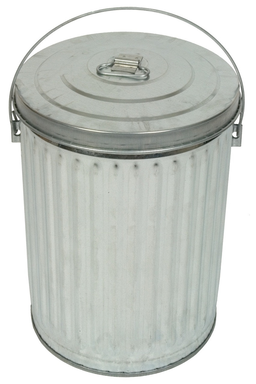 10 Gallon Galvanized Garbage Pail with Optional Lid 10GPC