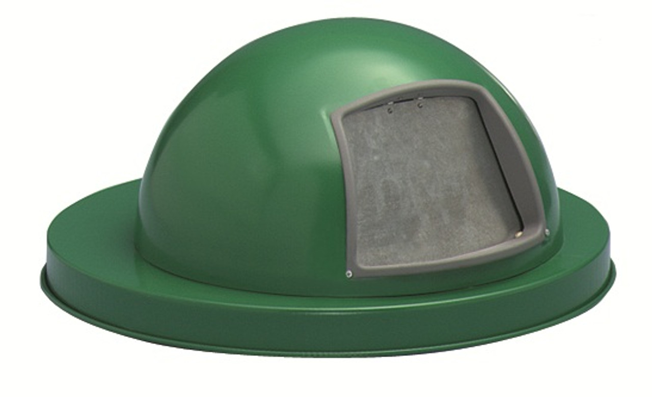 Painted Galvanized Dome Lid for 55 Gallon Drum Green