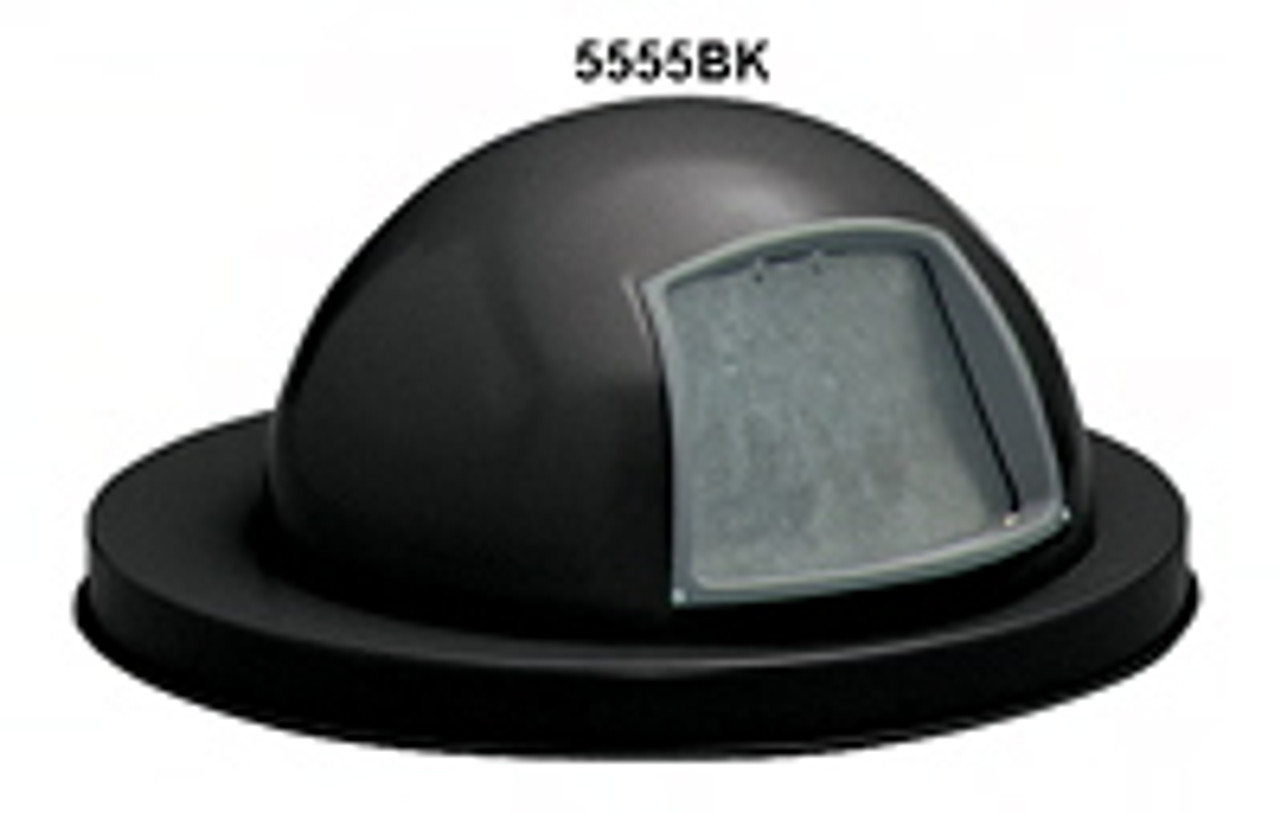 Painted Galvanized Dome Lid for 55 Gallon Drum Black