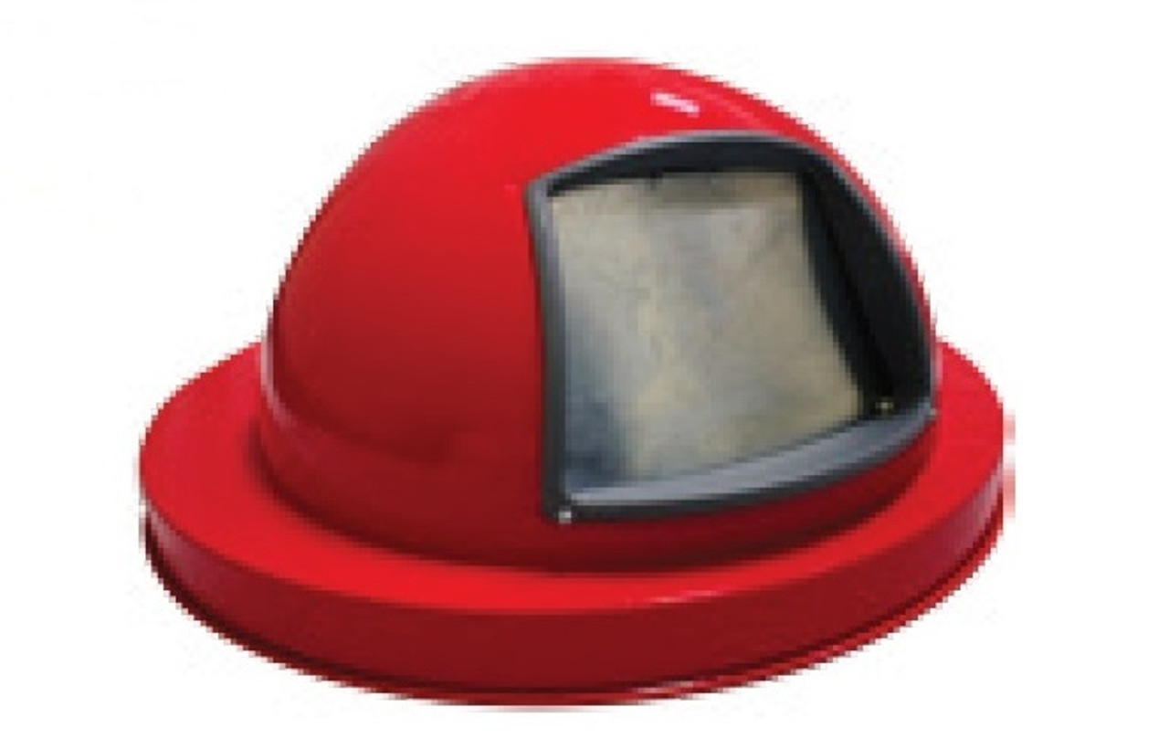 Painted Galvanized Dome Lid for 55 Gallon Drum Red