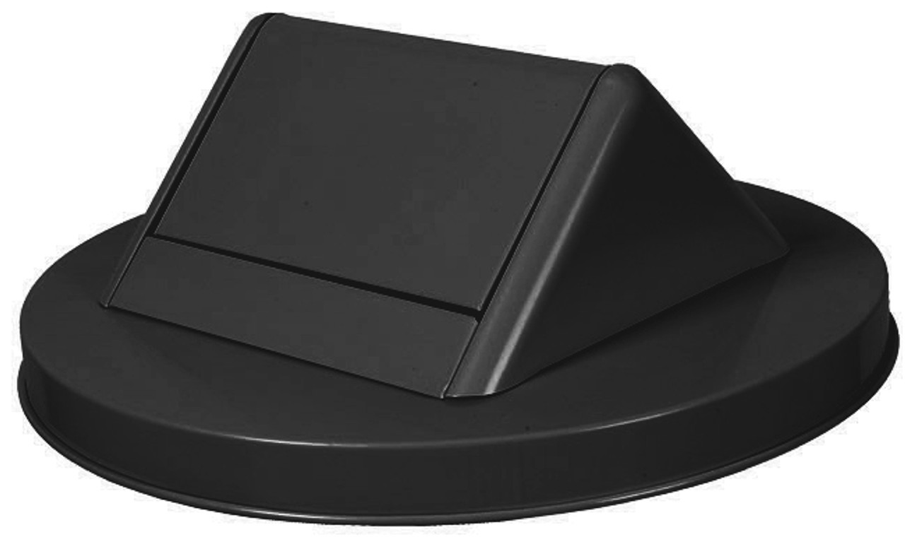 Witt Painted Galvanized Swing Top Lid for 55 Gallon Drum Black