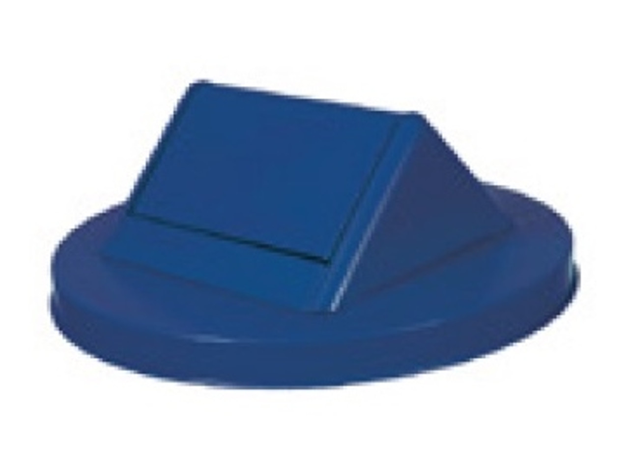 Witt Painted Galvanized Swing Top Lid for 55 Gallon Drum Blue