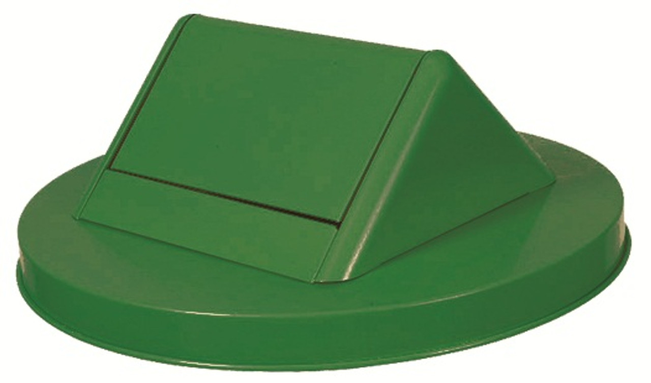 Witt Painted Galvanized Swing Top Lid for 55 Gallon Drum Green