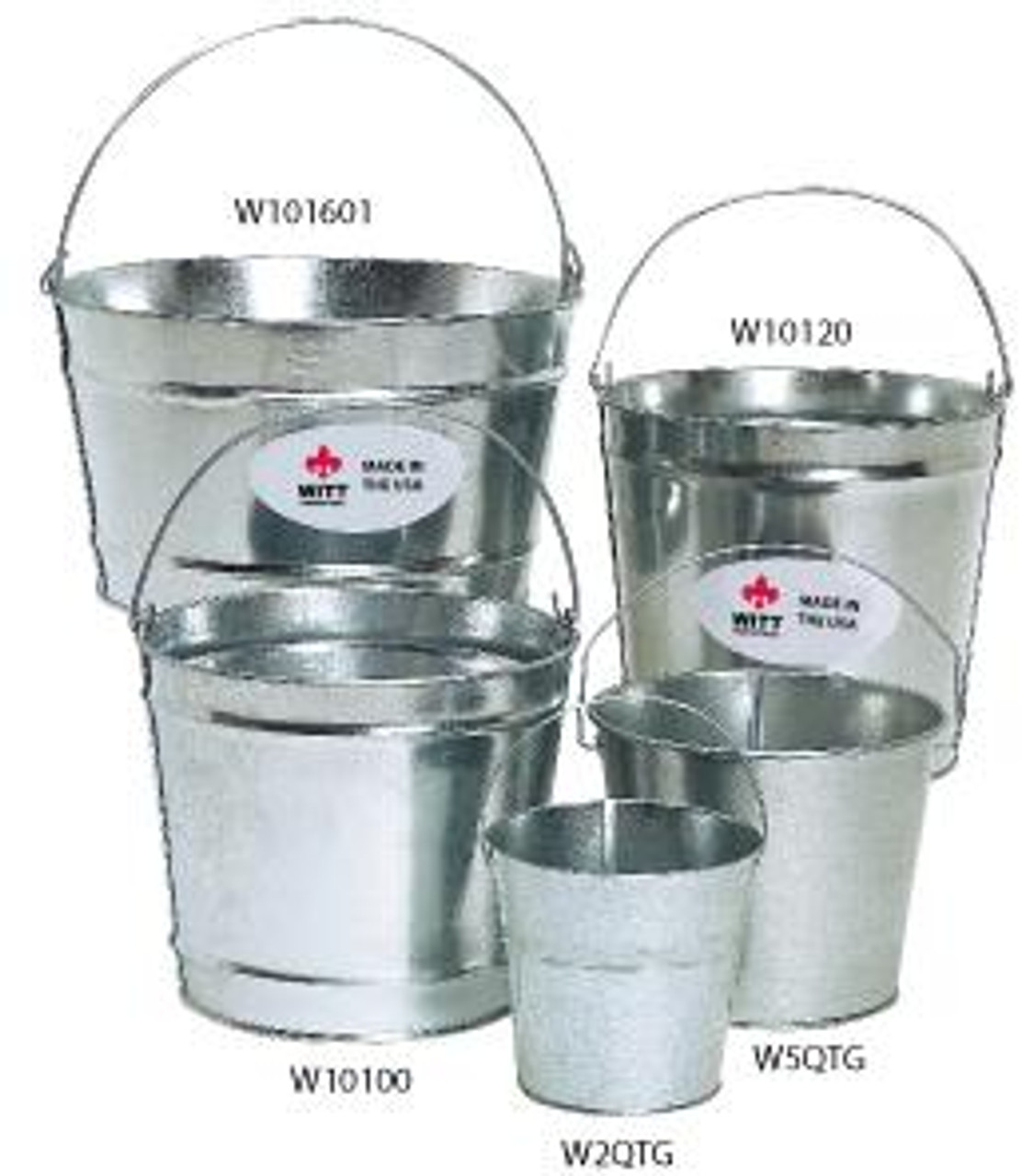 Galvanized Utility Pail (5 Sizes to Choose From)