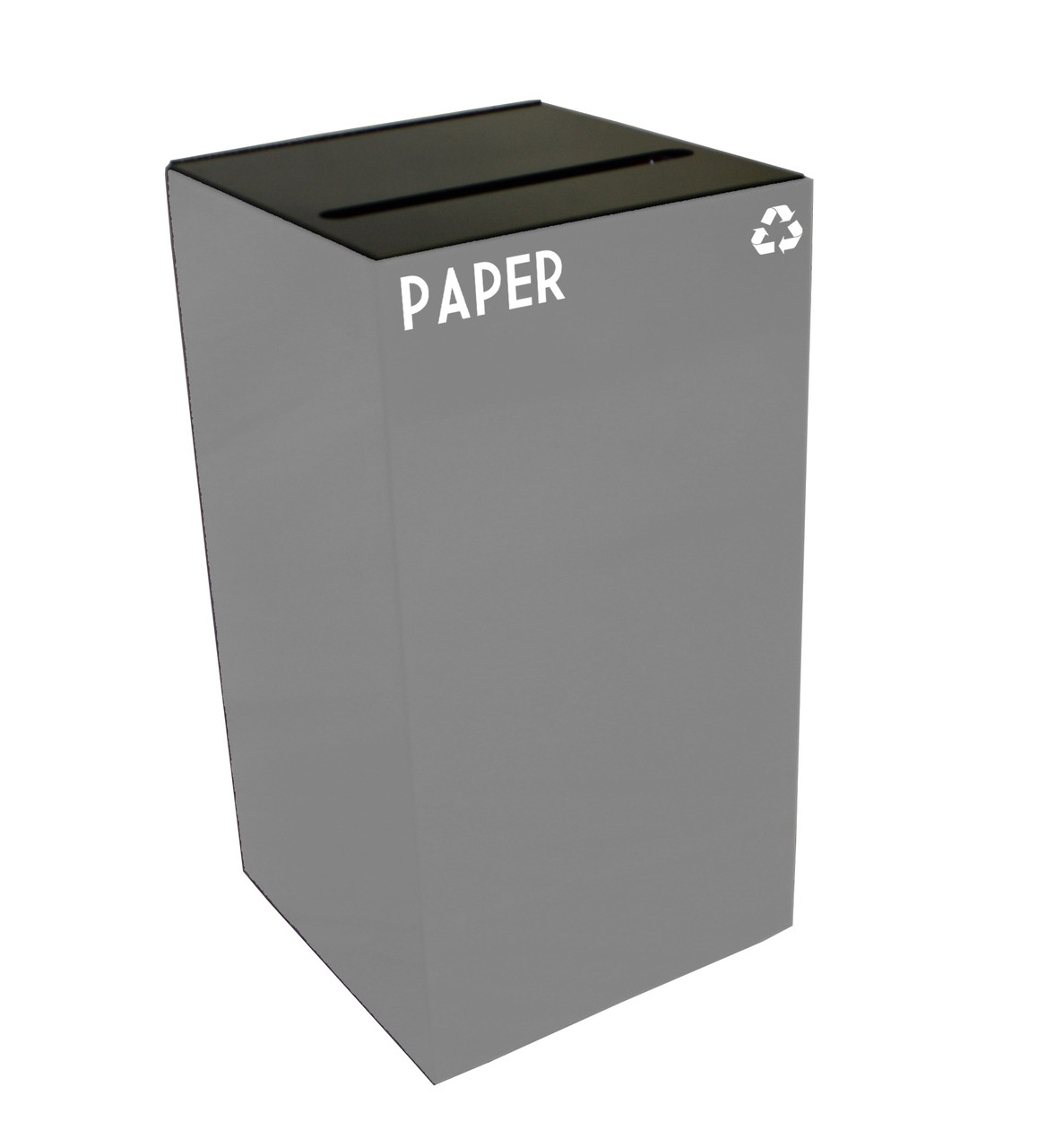 28 Gallon Metal Geocube 28GC0 Recycling Bin Receptacle for Paper