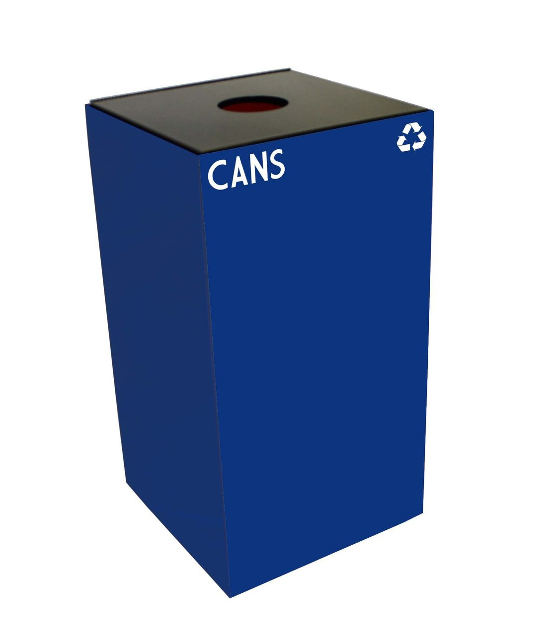 28 Gallon Metal Geocube 28GC0 Recycling Bin Receptacle for Cans
