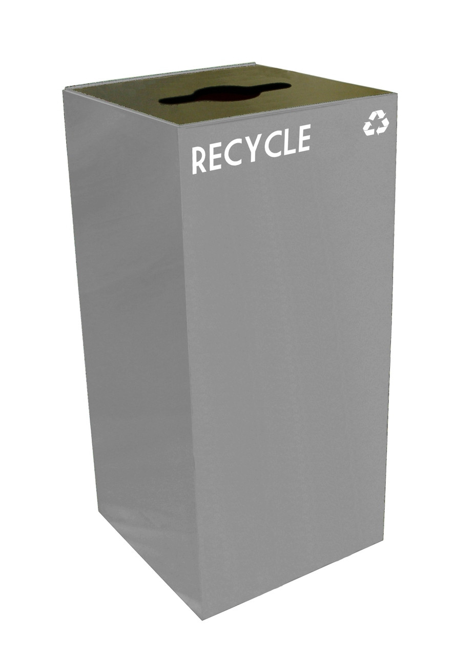 32 Gallon Metal Geocube 32GC0 Recycling Bin Receptacle for Recyclables