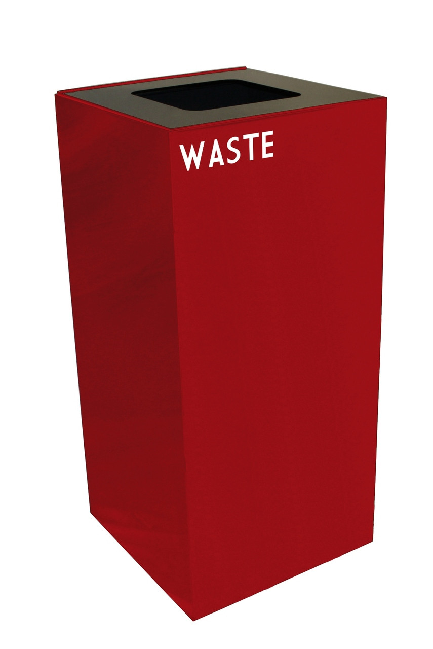 32 Gallon Metal Geocube 32GC0 Recycling Bin Receptacle for Waste