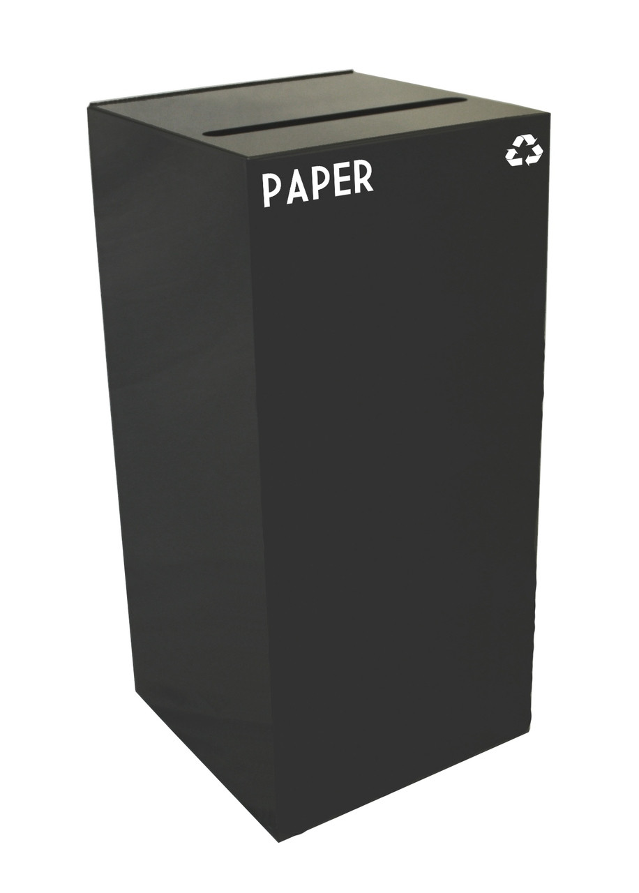 32 Gallon Metal Geocube 32GC0 Recycling Bin Receptacle for Paper