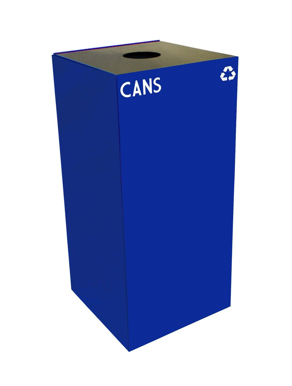 32 Gallon Metal Geocube 32GC0 Recycling Bin Receptacle for Cans