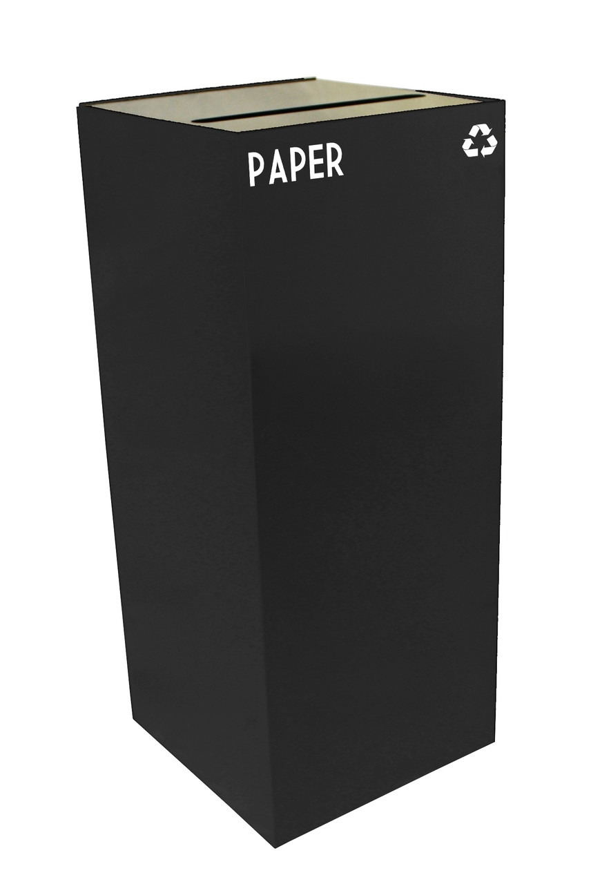 36 Gallon Metal Geocube 36GC0 Recycling Bin Receptacle (5 Colors) for Paper