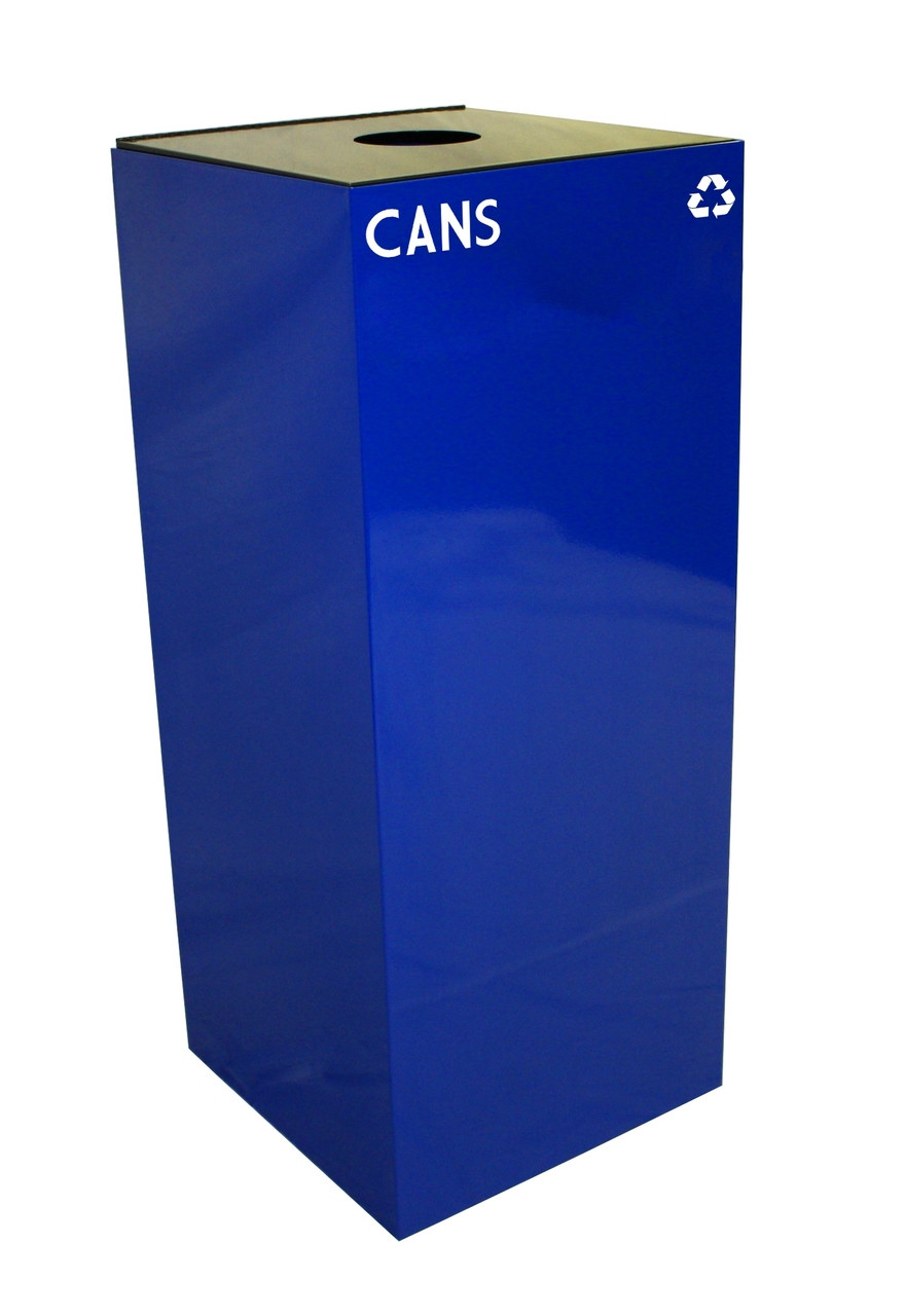 36 Gallon Metal Geocube 36GC0 Recycling Bin Receptacle for Cans