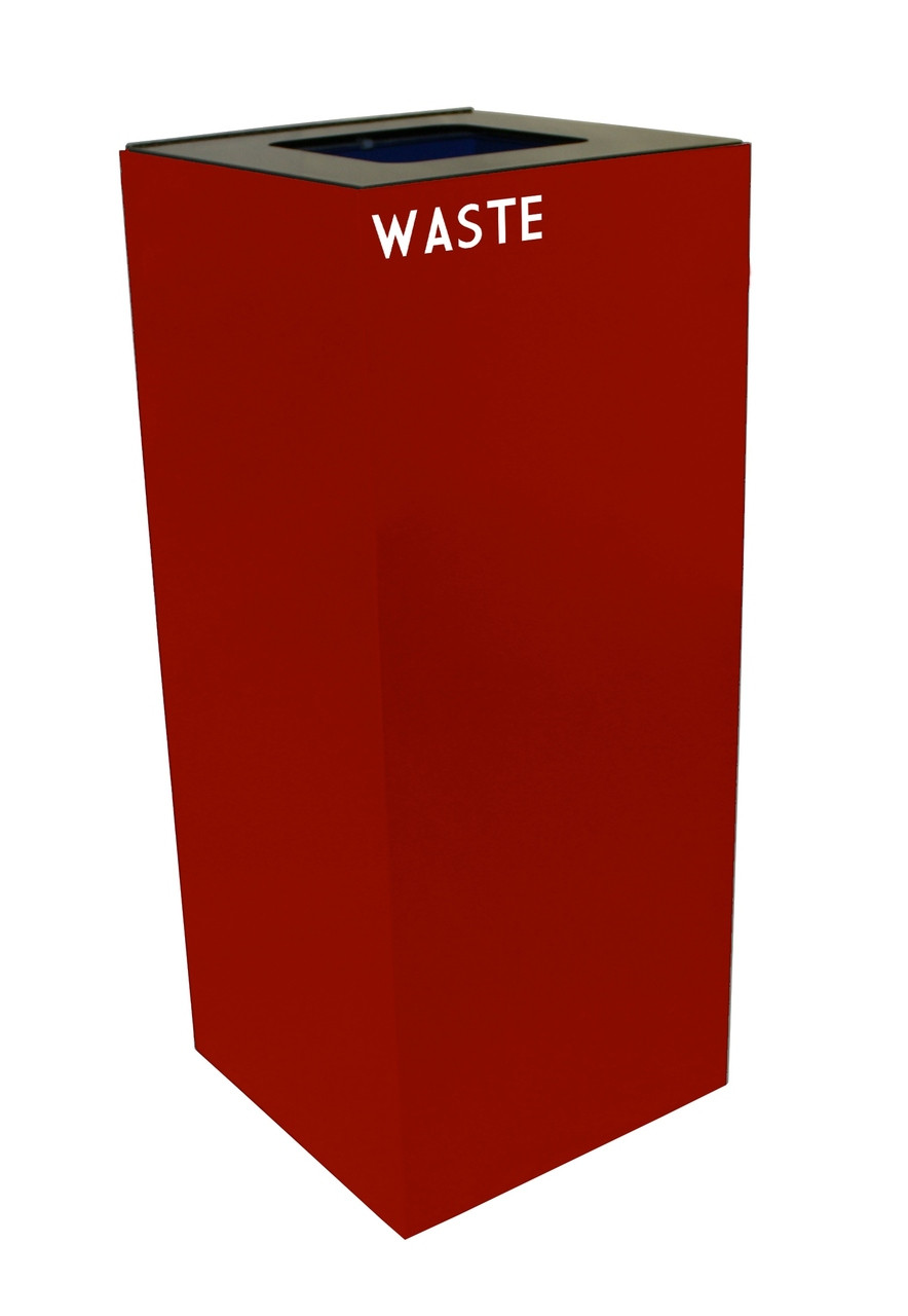 36 Gallon Metal Geocube 36GC0 Recycling Bin Receptacle for Waste