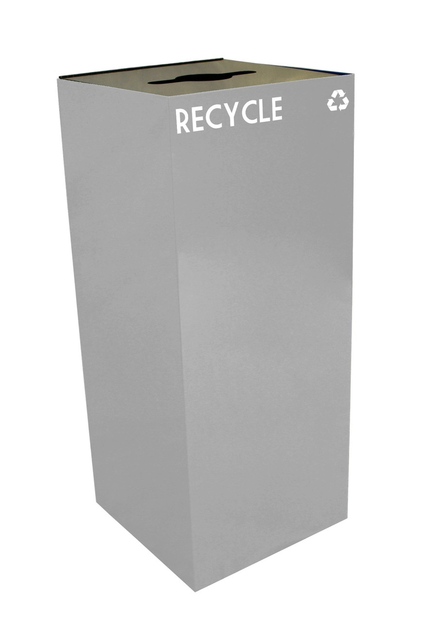 36 Gallon Metal Geocube 36GC0 Recycling Bin Receptacle for Recyclables