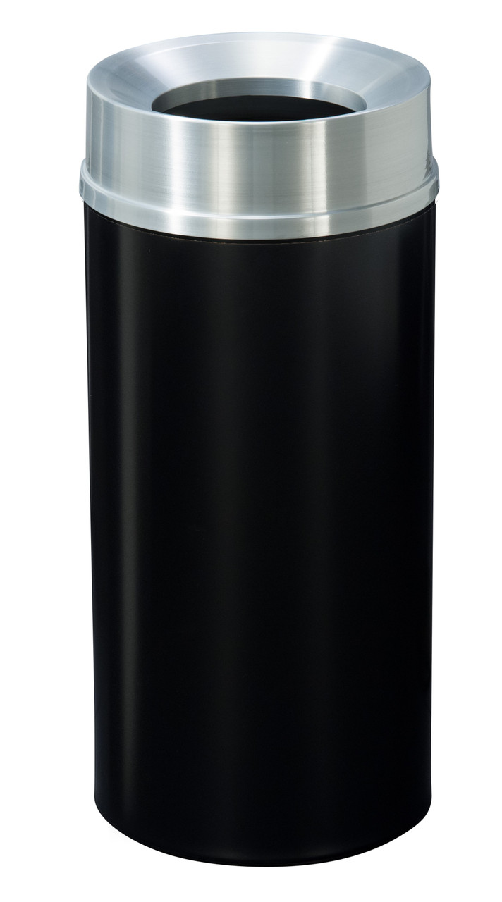Mount Everest F1232 Funnel Top Trash Can Satin Aluminum Cover