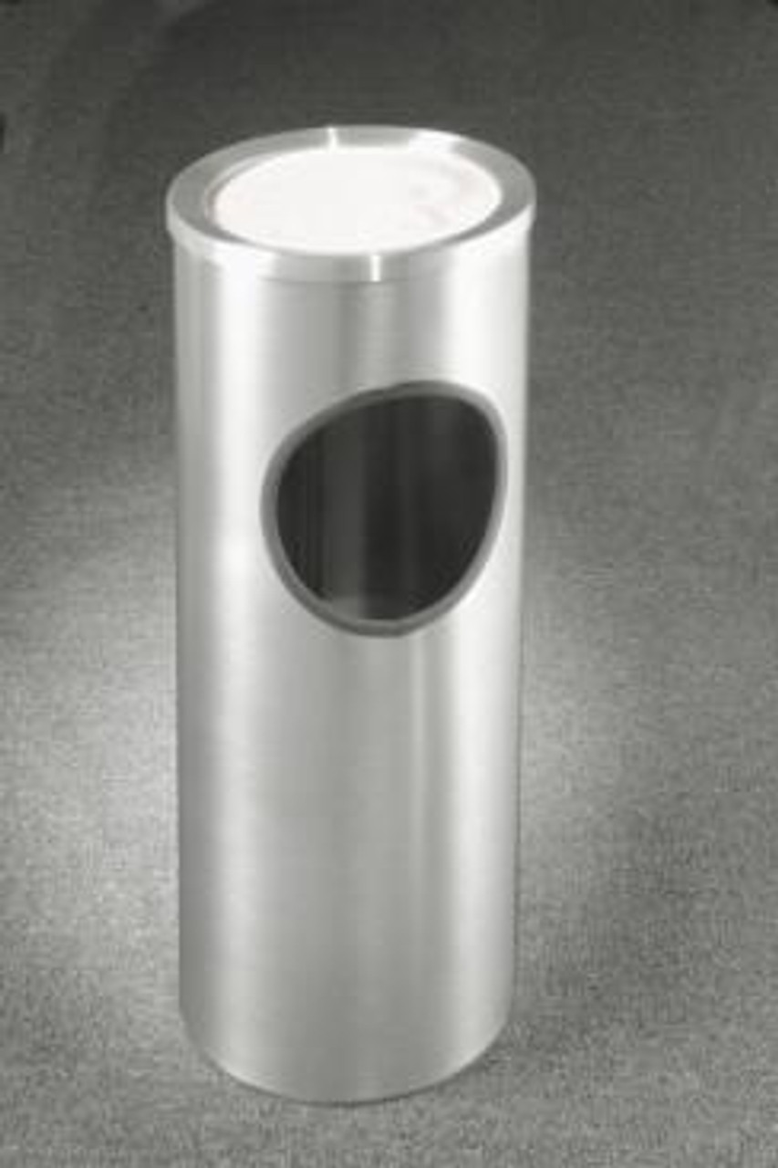 Satin Aluminum 3 Gallon 192SA Sand Top Ash Trash Receptacle