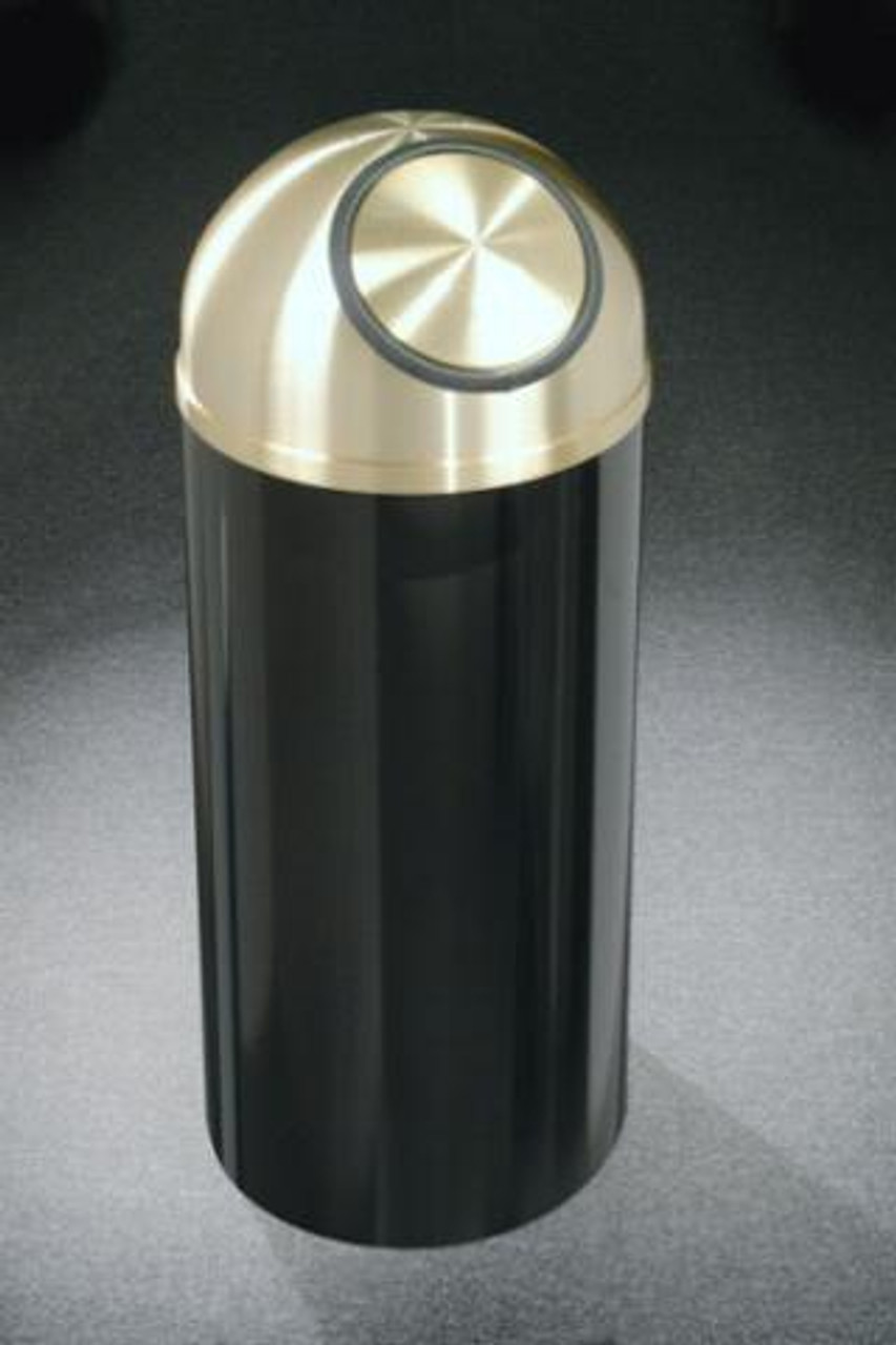 Mount Everest S1230 Dome Top Trash Can Satin Brass Cover