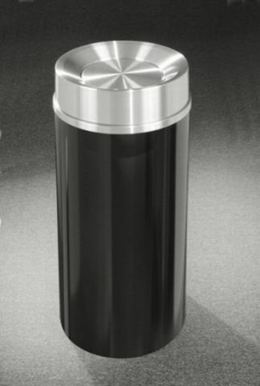 Mount Everest TA1232 Tip Action Self Closing Trash Can Satin Aluminum Cover