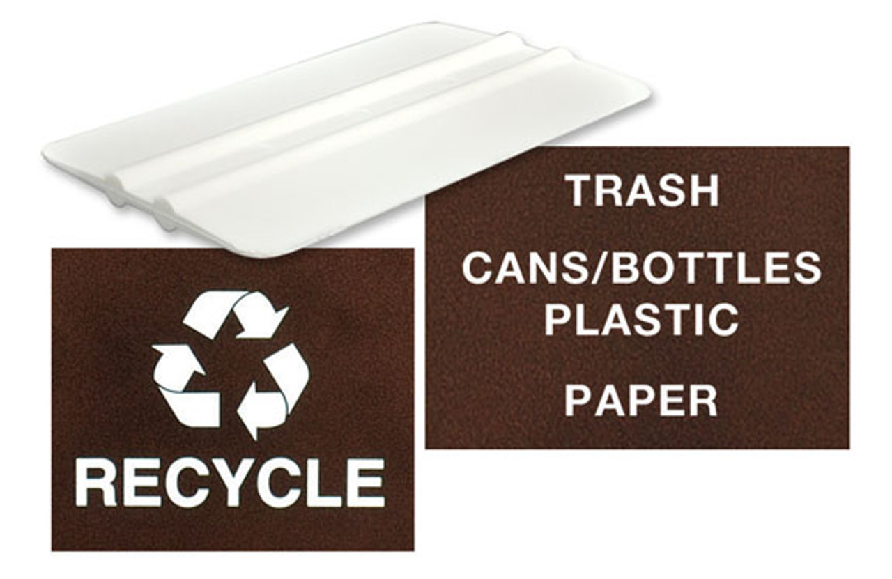 Includes Decal Kit for Recycle Bin