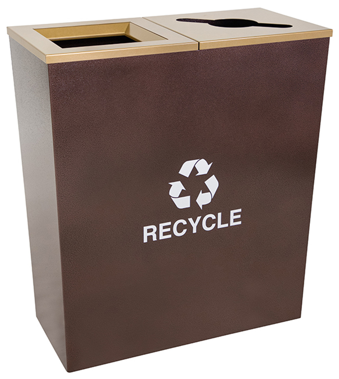 36 Gallon Two Stream Metro Collection Recycling Receptacle RC-MTR-2 HCPR
