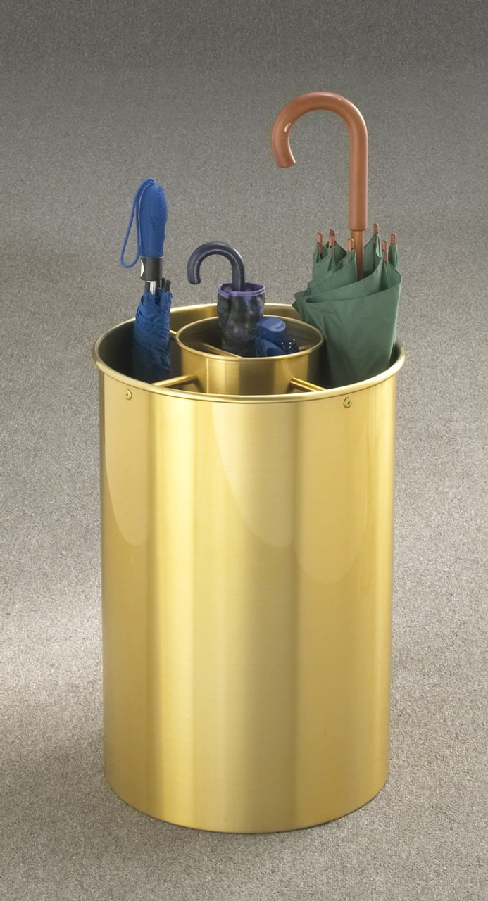 Glaro 259BE Satin Brass Combination Umbrella Stand