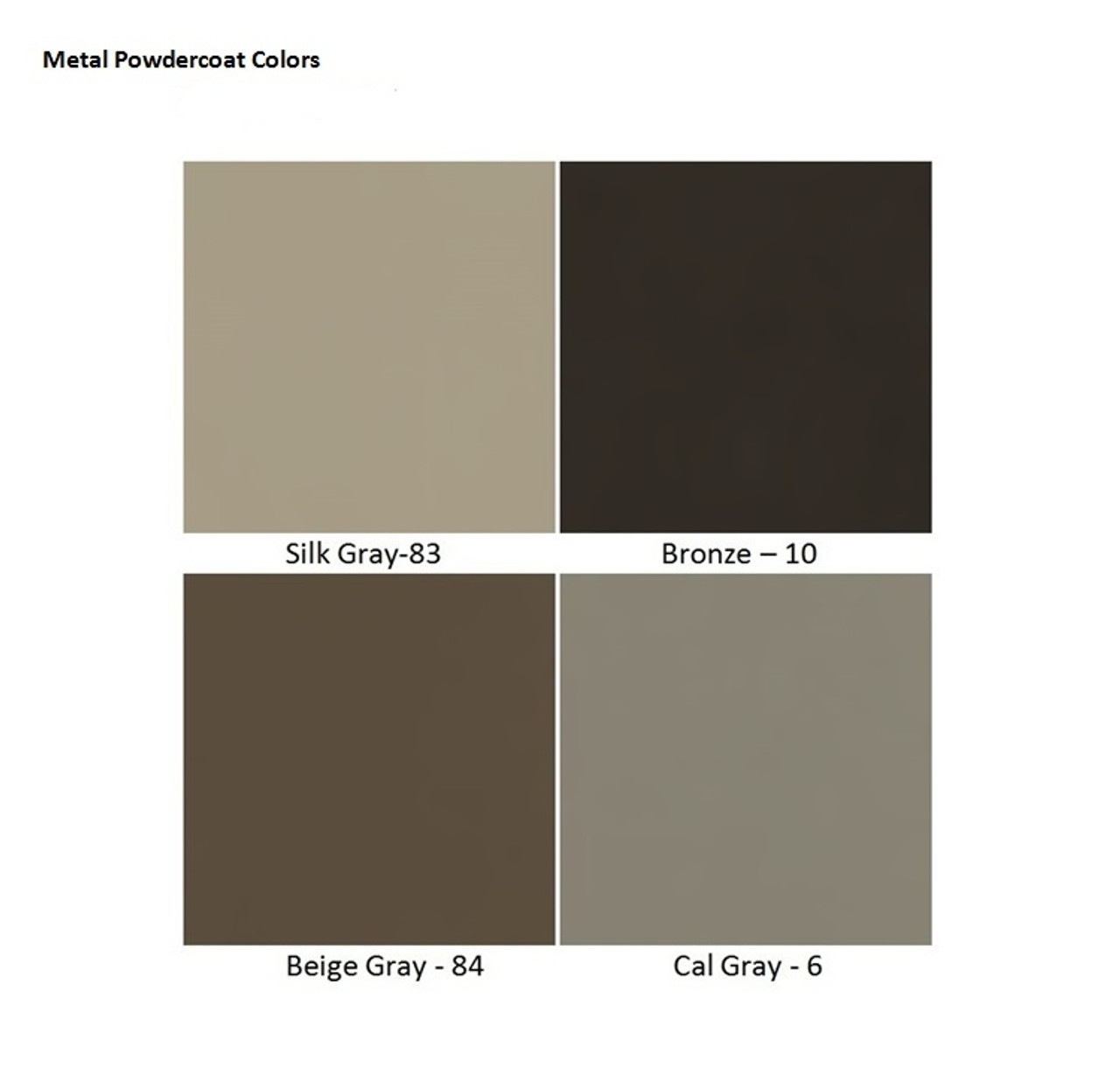 Metal Powdercoat Colors