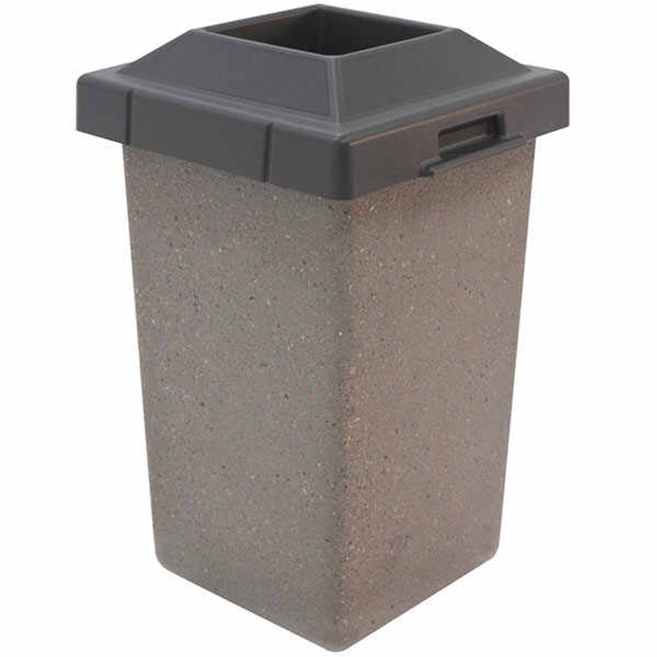 30 Gallon Concrete Pitch In Top Outdoor Waste Container TF1010 Weatherstone