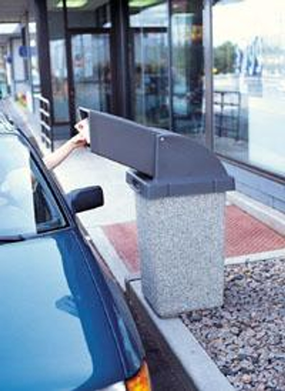 30 Gallon Concrete Drive Up Chute Lid Outdoor Waste Container TF1021 at Drive Thru
