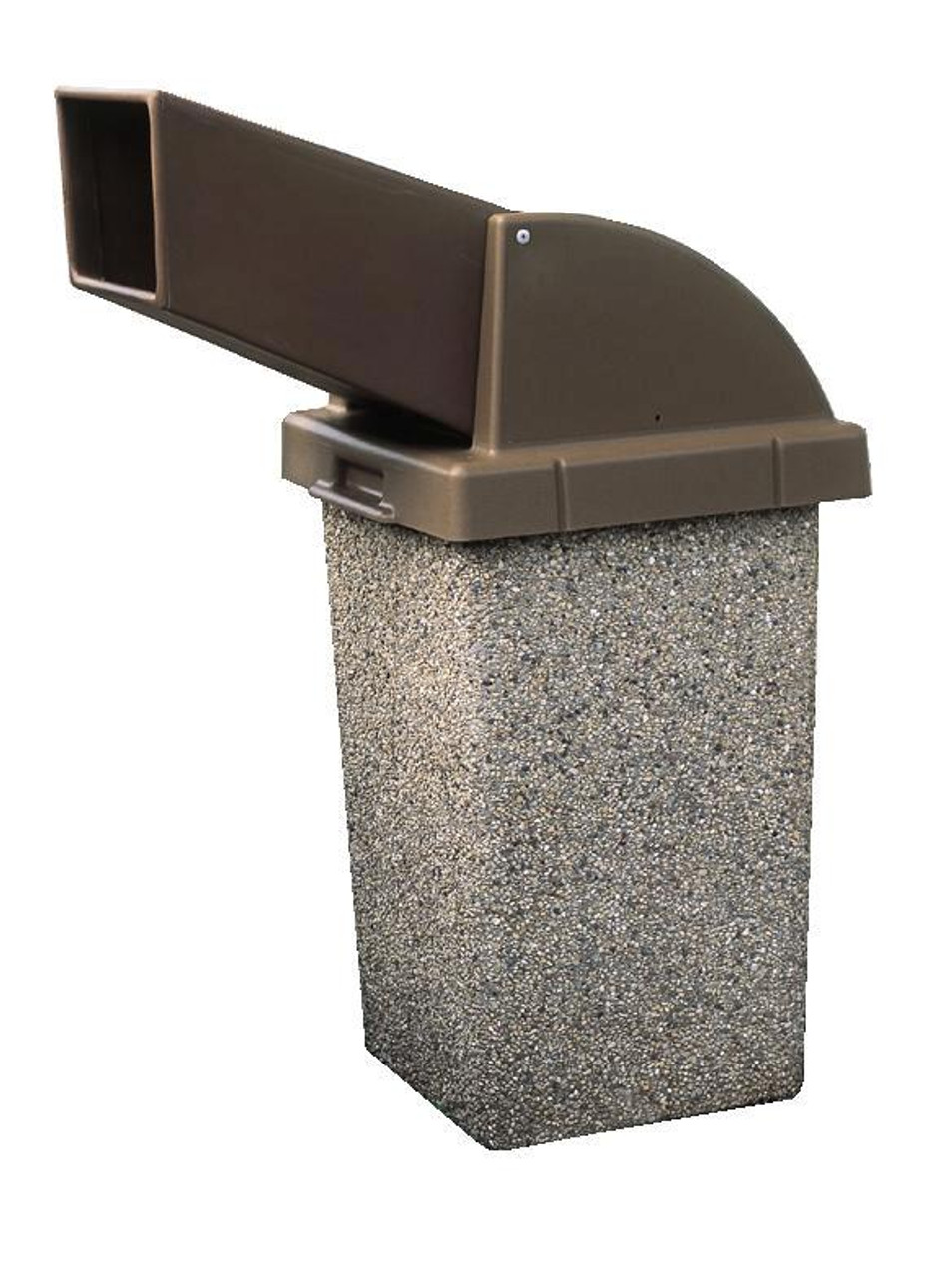 30 Gallon Concrete Drive Up Chute Lid Outdoor Waste Container TF1021 Exposed Aggregate