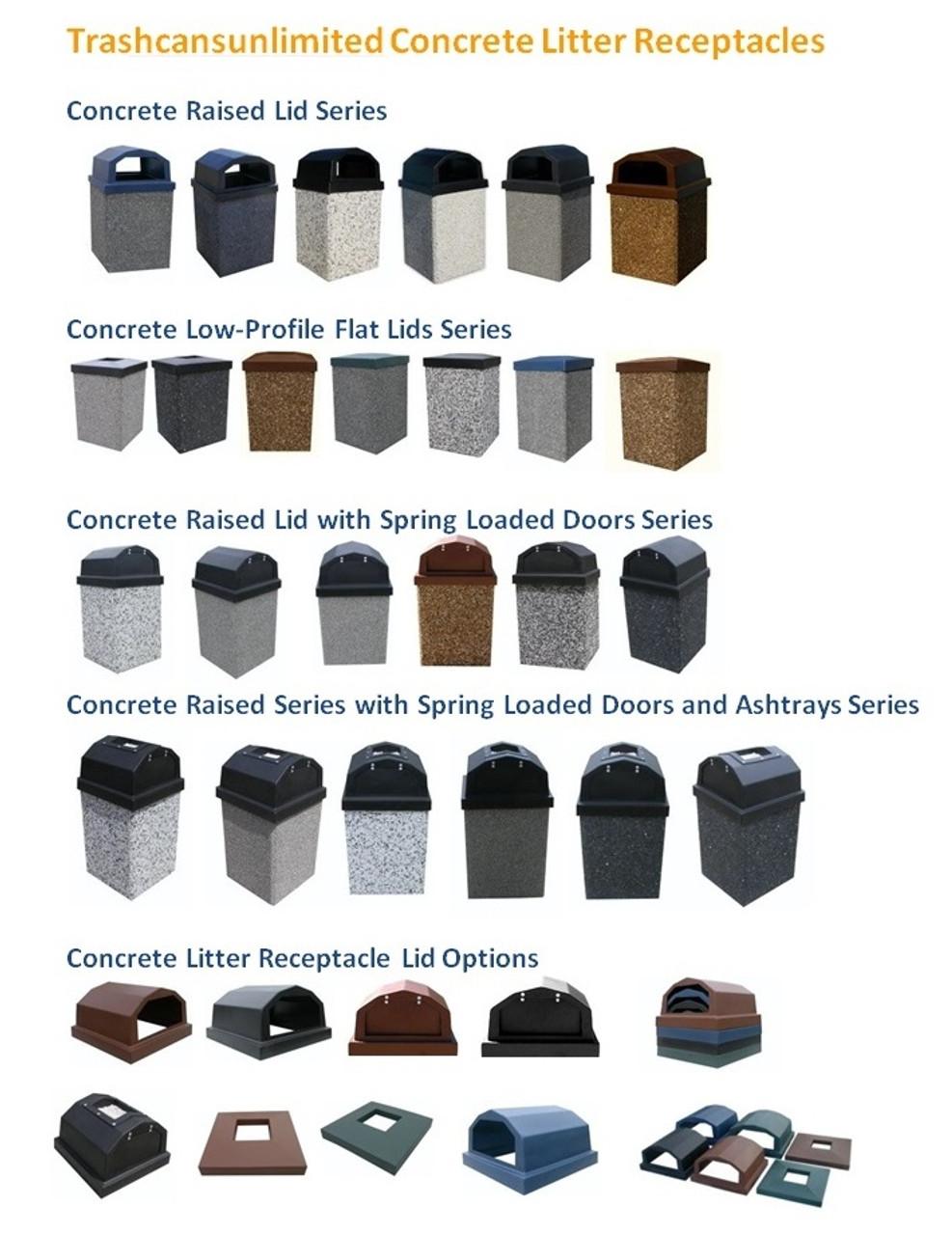 Trashcans Unlimited Concrete Trash Cans