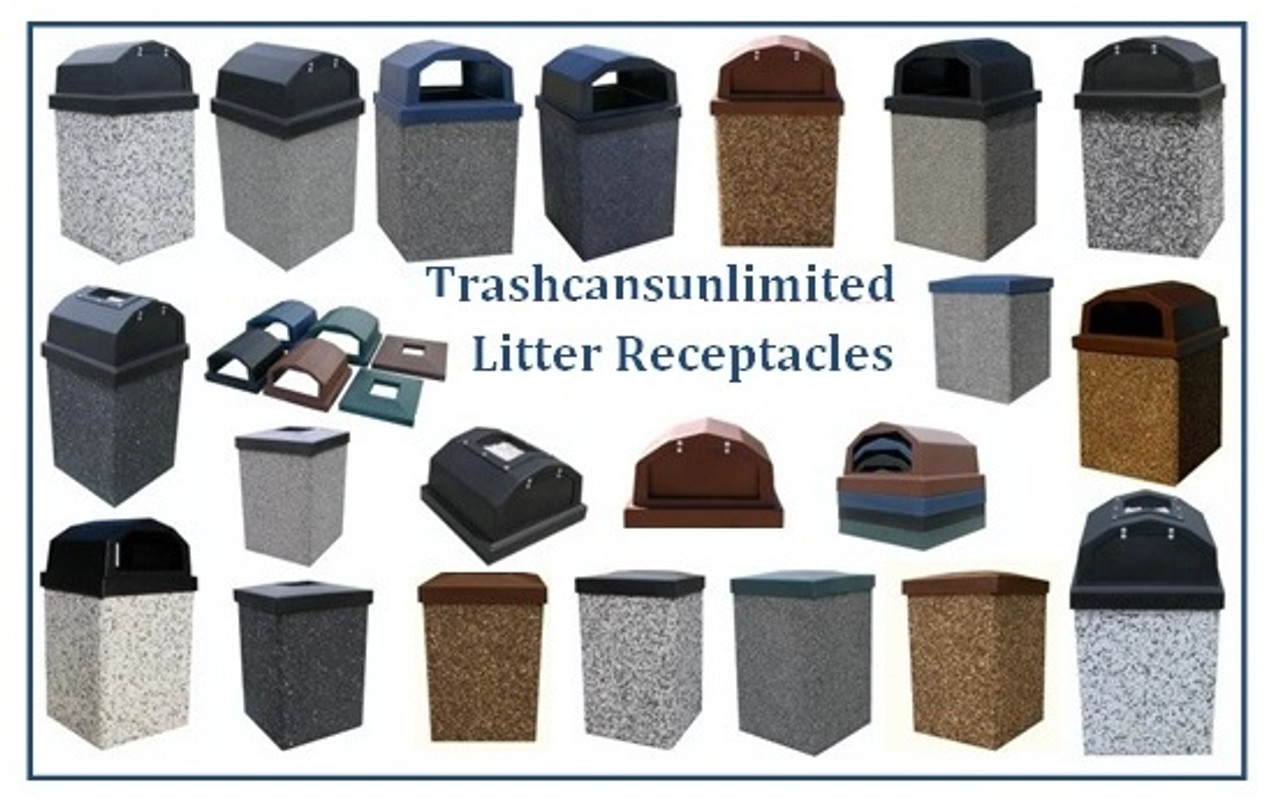 TrashcansUnlimited.com Concrete Trash Cans