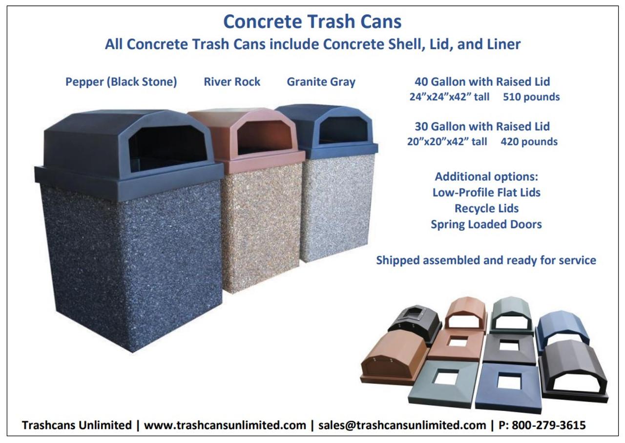 Concrete Trash Containers