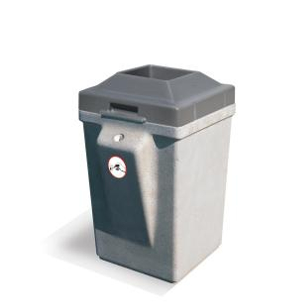 30 Gallon Concrete Outdoor Smokeless Ash Trash Container with Pitch In Lid