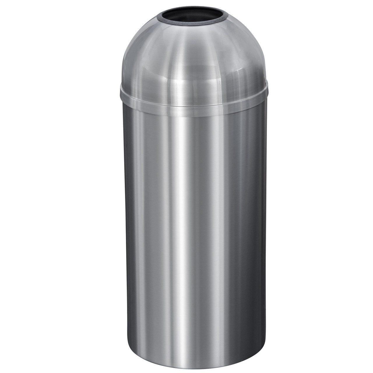 New Yorker 12 Gallon T1530SA Dome Top Trash Receptacle w/Plastic Liner